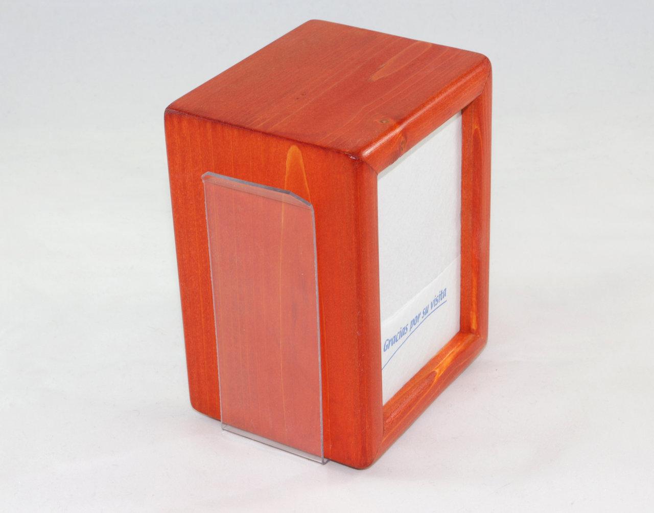 Cube napkin holder with toothpick and menu holder bh com - Wooden pocket toothpick holder ...
